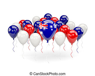 Flag of australia with balloons