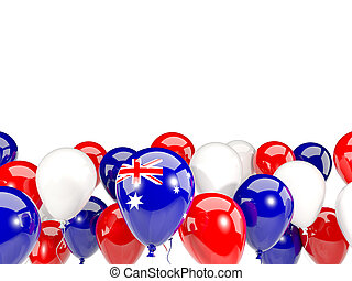 Flag of australia with balloons