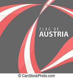 Flag of Austria against a dark background