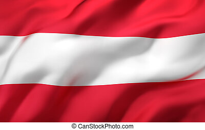 Flag of Austria blowing in the wind