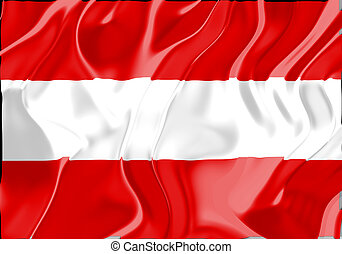 Flag of Austria, national country symbol illustration