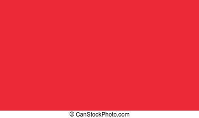 Flag of Austria - Drawing Austrian Flag by Brush Strokes