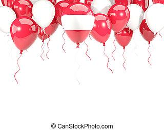 Flag of austria on balloons
