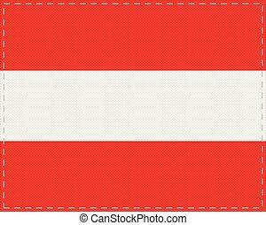 Flag of Austria on cloth