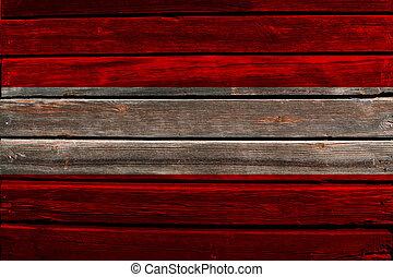 Flag of Austria on wood
