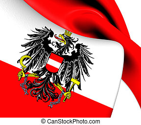 Flag of Austria. Close Up.