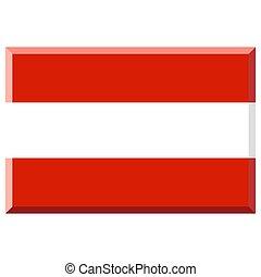 Flag of Austria with 3D border