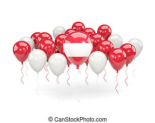 Flag of austria with balloons