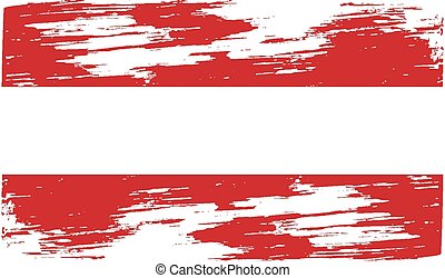 Flag of Austria with old texture. Vector