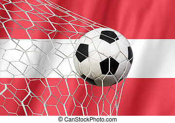 Flag of austria with Soccer ball