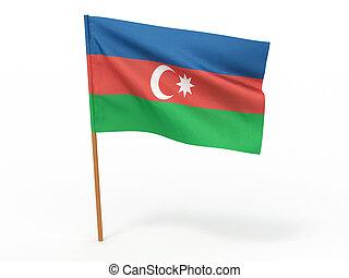 flag of Azerbaijan. 3d