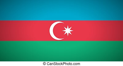 Flag of Azerbaijan.