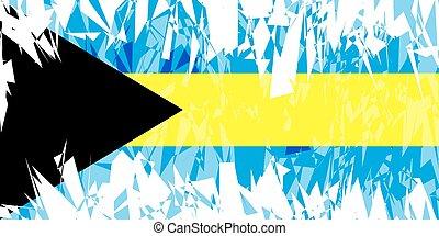 Flag of Bahamas.