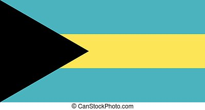 Flag of Bahamas in correct proportions and colors