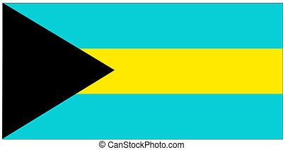 Flag of Bahamas, national country symbol illustration