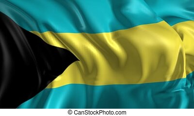 Flag of Bahamas - Beautiful 3d animation of Bahamas flag in...