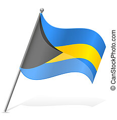 flag of Bahamas vector illustration