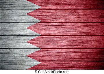 flag of bahrain Background texture wood