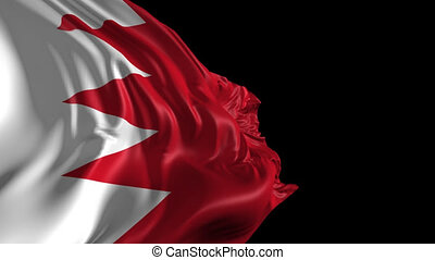 Flag of Bahrain - Beautiful 3d animation of Bahrain flag...
