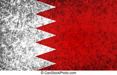 Flag of Bahrain.