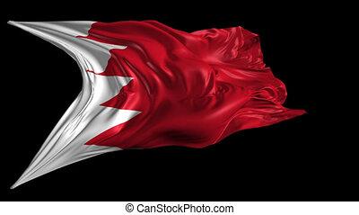 Flag of Bahrain - Beautiful 3d animation of Bahrain flag...