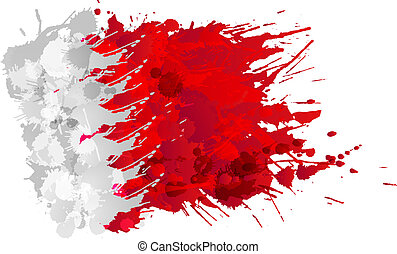 Flag of Bahrain made of colorful splashes