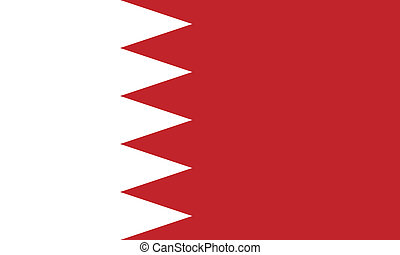 Flag of Bahrain. Vector illustration.