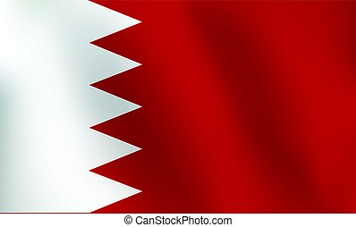 Flag of Bahrain - Vector Illustration