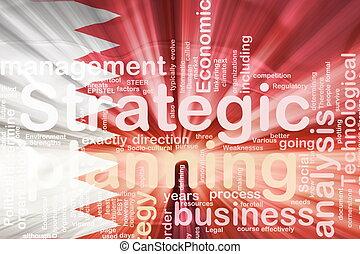 Flag of Bahrain, national country symbol illustration wavy business strategic planning