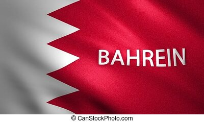 Flag of Bahrein that moves slightly in the wind