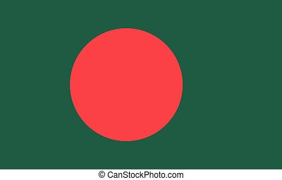 Flag of Bangladesh in national colors, vector.