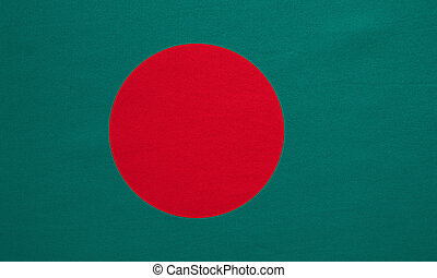 Flag of Bangladesh real detailed fabric texture