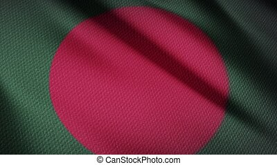 Flag of Bangladesh Realistic 3D