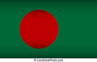 Flag of Bangladesh.