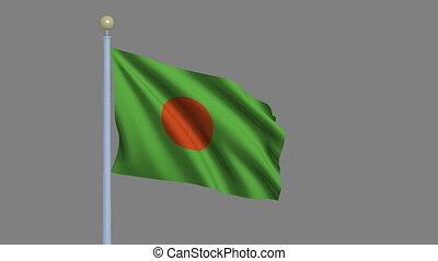 Flag of Bangladesh with alpha matte