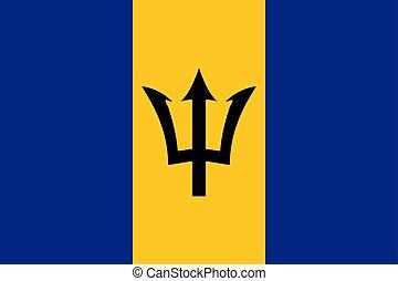 Flag of Barbados Vector illustration eps 10