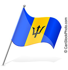 flag of Barbados vector illustration