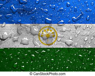 flag of Bashkortostan with rain drops