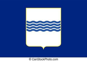 Flag of Basilicata, Italy. Vector Format