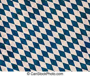 Flag of Bavaria on old linen