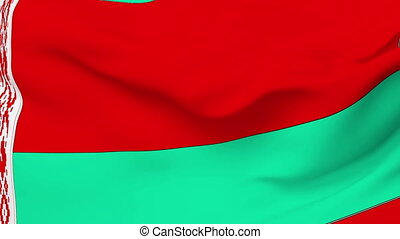 Flag of Belarus - Flag of the Belarus waving in the wind....