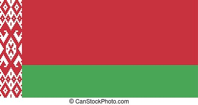 Flag of Belarus in official proportions and colors