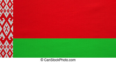 Flag of Belarus real detailed fabric texture