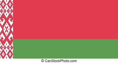 Flag of Belarus. Vector.