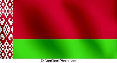 Flag of Belarus - Vector Illustration