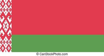 Flag of Belarus. Vector.