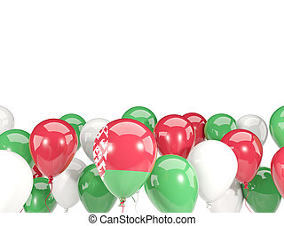 Flag of belarus with balloons