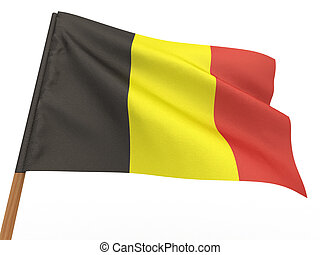 Flag of belgium. 3d