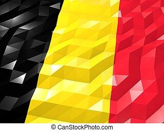 Flag of Belgium 3D Wallpaper Illustration