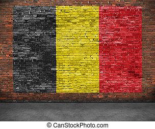 Flag of Belgium and ground